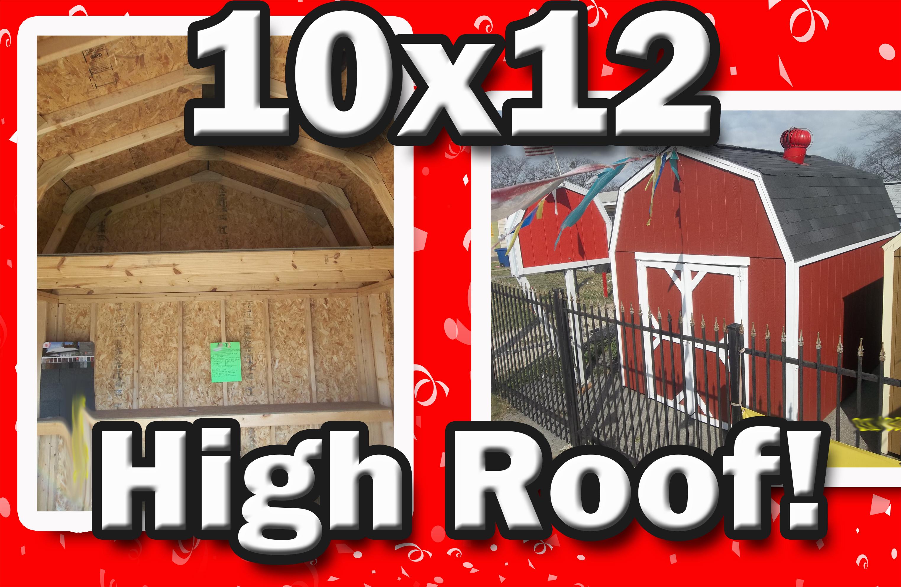10 x 12 storage sheds